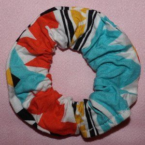 Small Handmade Tropical Scrunchie